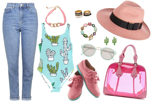 Cactus y Pin Rolling Jeans