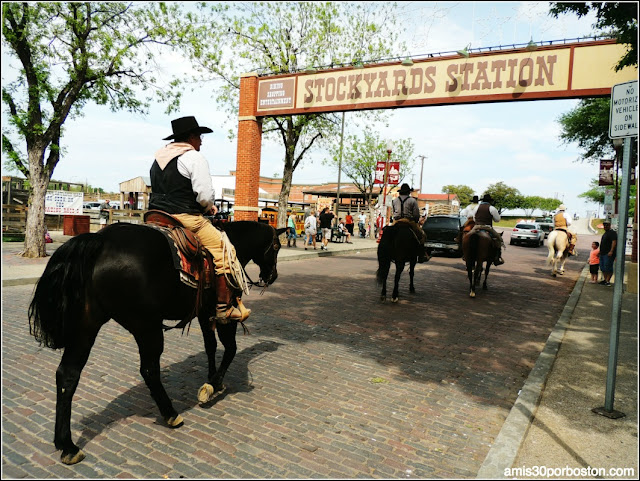 Vaqueros en Fort Worth Stockyards, Texas