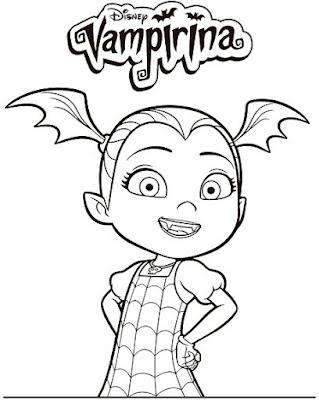 vampirina colorear 1
