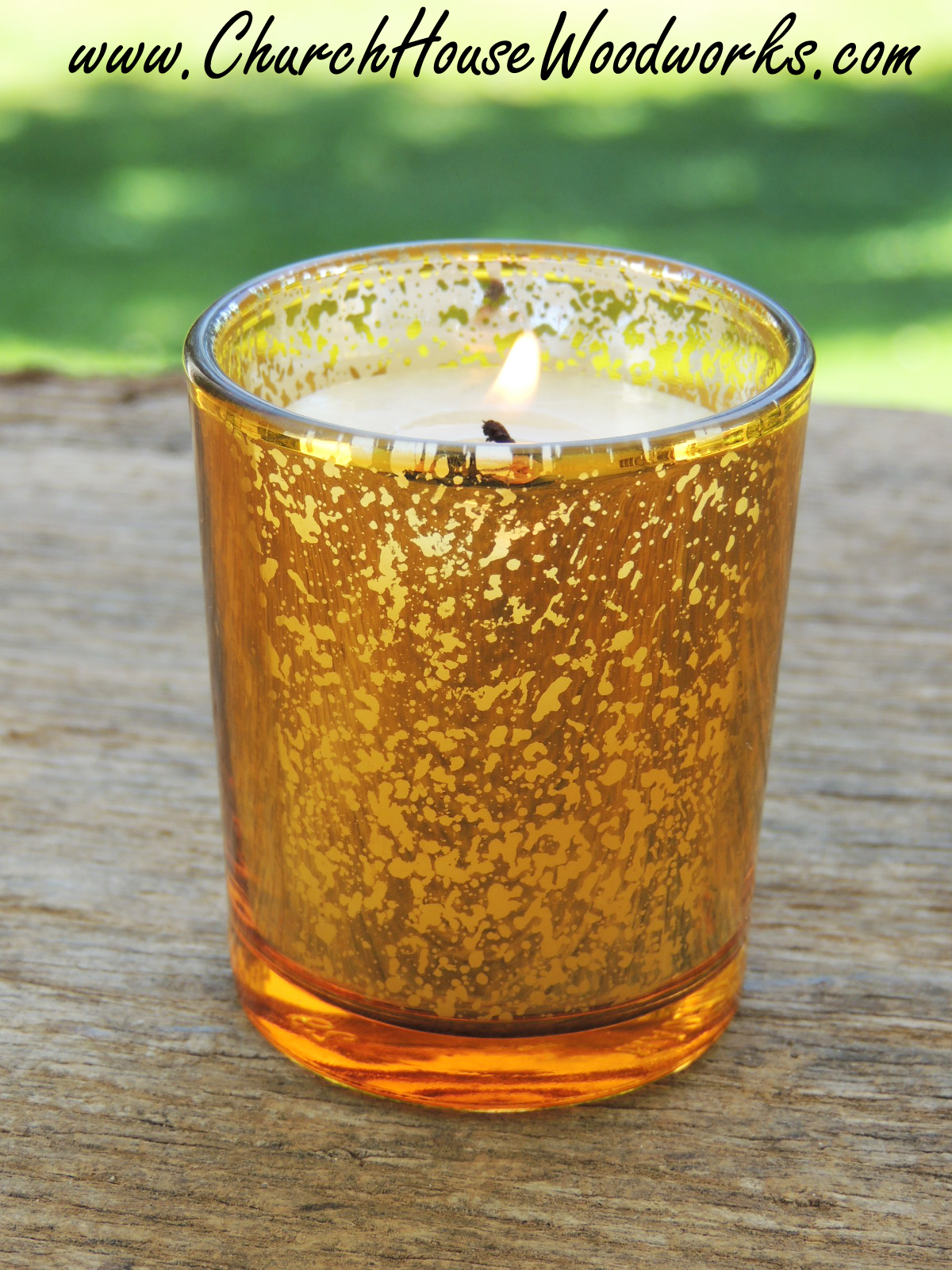 Gold And Silver Mercury Glass Votive Holders Wedding Candle