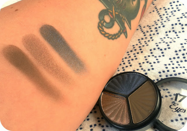 SEVENTEEN Smokey Eye Trio Eyeshadow in Midnight