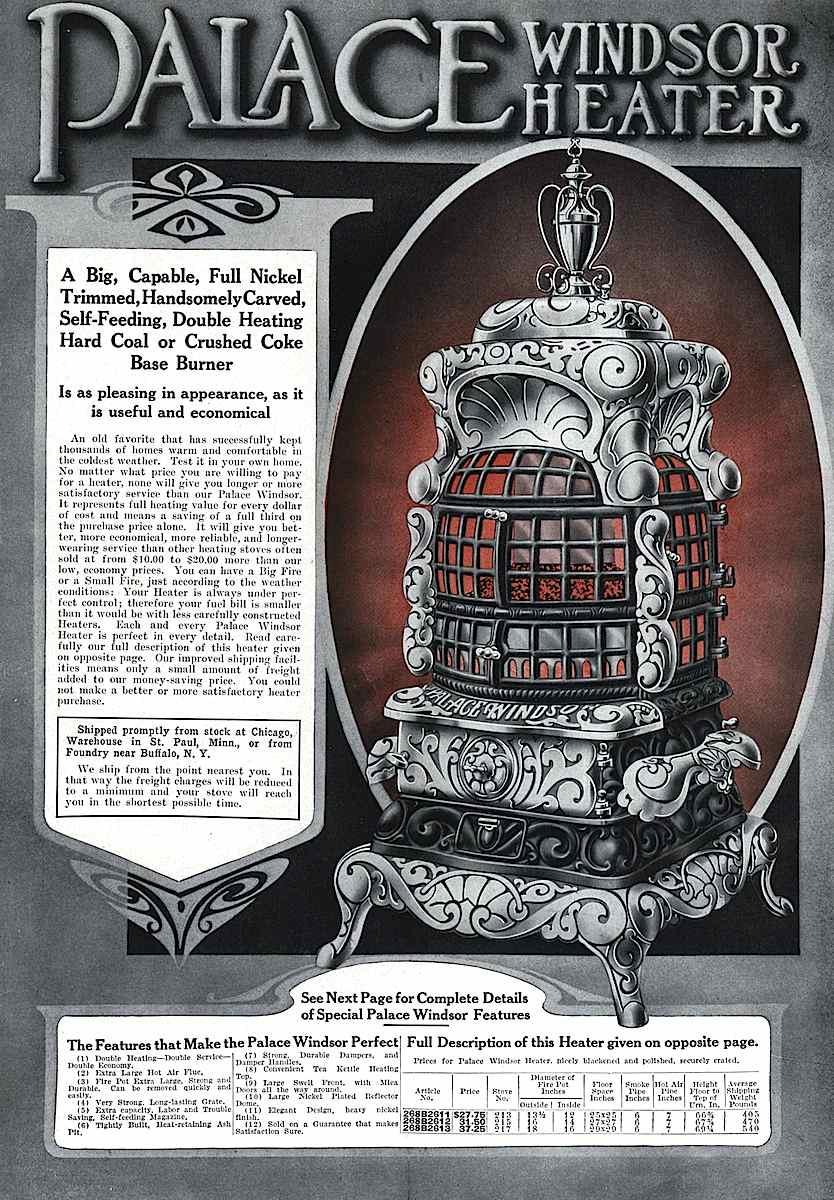 1916 Palace Windsor heater advert