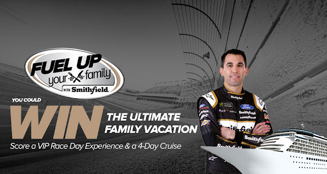 Smithfield wants you to Fuel Up Your Family! Play weekly for a chance to win a VIP Racing experience and a cruise vacation or cool instant win prizes!