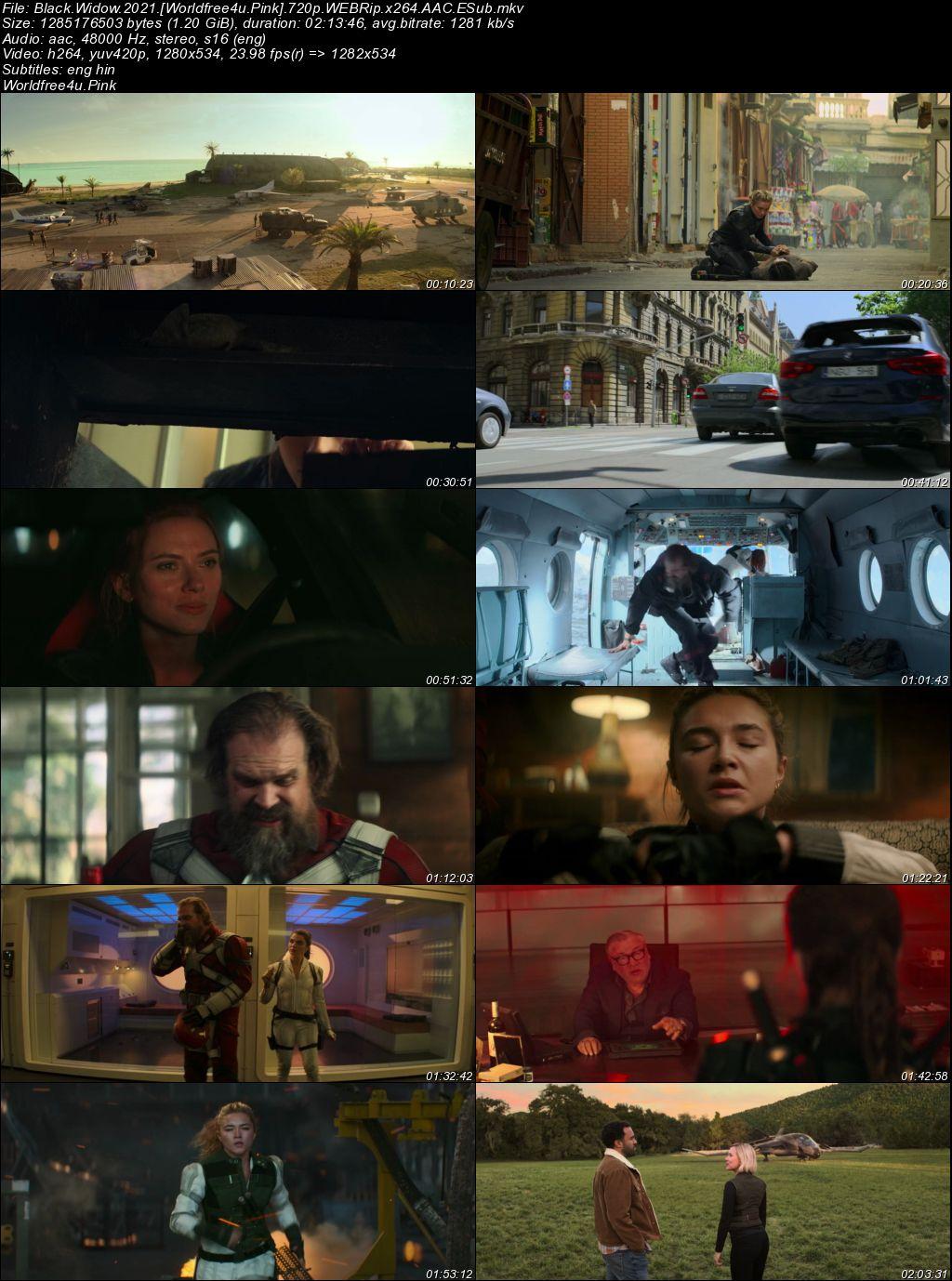 Black Widow 2021 English Movie Download    HDRip 720p