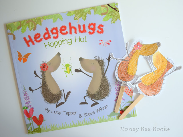 Have fun retelling the story of Hedgehugs Hopping Hot with handmade hedgehog puppets