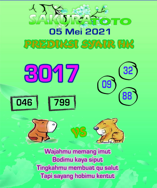 Prediksi Sakuratoto HK Rabu 05 Mei 2021