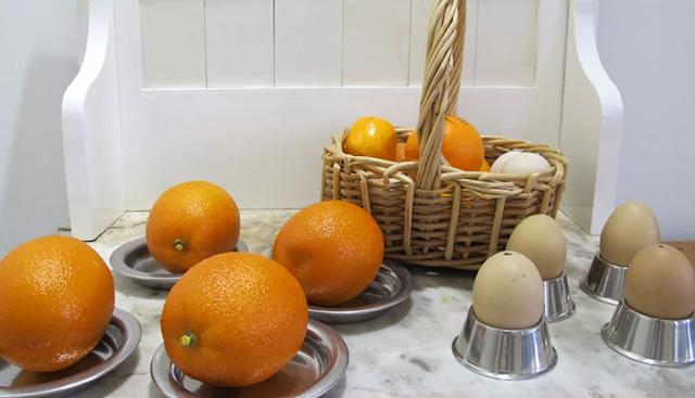 яйца и апельсины