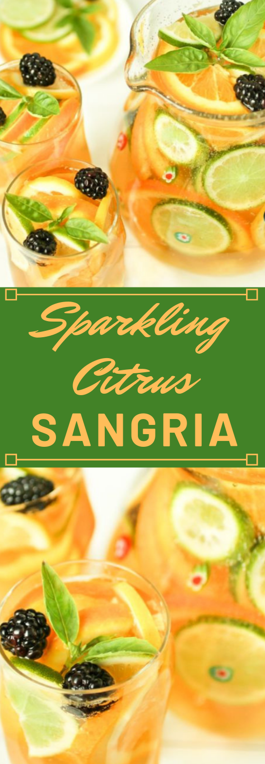 SPARKLING CITRUS SANGRIA  #sangria #drink #cocktail #citrus #smoothie