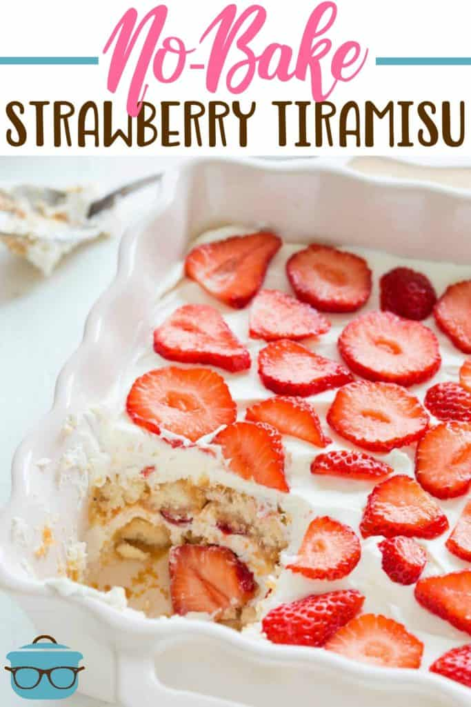 No Bake Strawberry Tiramisu Recipe #desserts #starwberry #nobake #tiramisu #easy