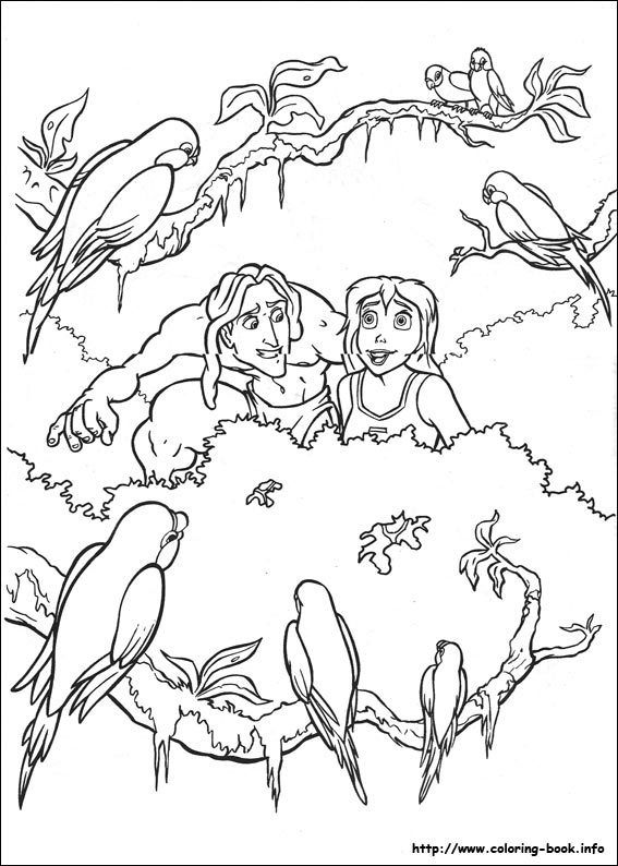 Disney Princess Jane Coloring Pages