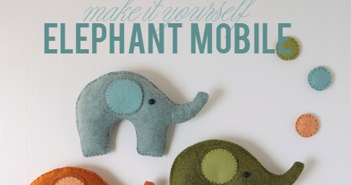 Felt Elephant Mobile // Pattern and Instructions