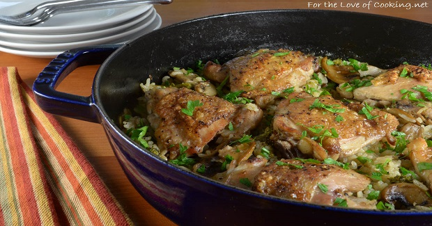 Chicken Thighs With Rice, Mushrooms, And Broccoli Recipe