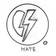 Hate Icon Drawing