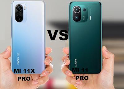 مقارنة بين شاومي Mi 11 Pro و Mi 11X Pro مقارنة بين شاومي مي 11 برو و شاومي مي 11اكس برو
