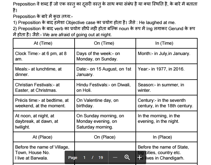 Preposition notes compilation for competitive examinations pdf also rh qmaths