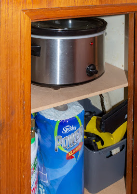 PHoto of the cupboard which is now being put to good use