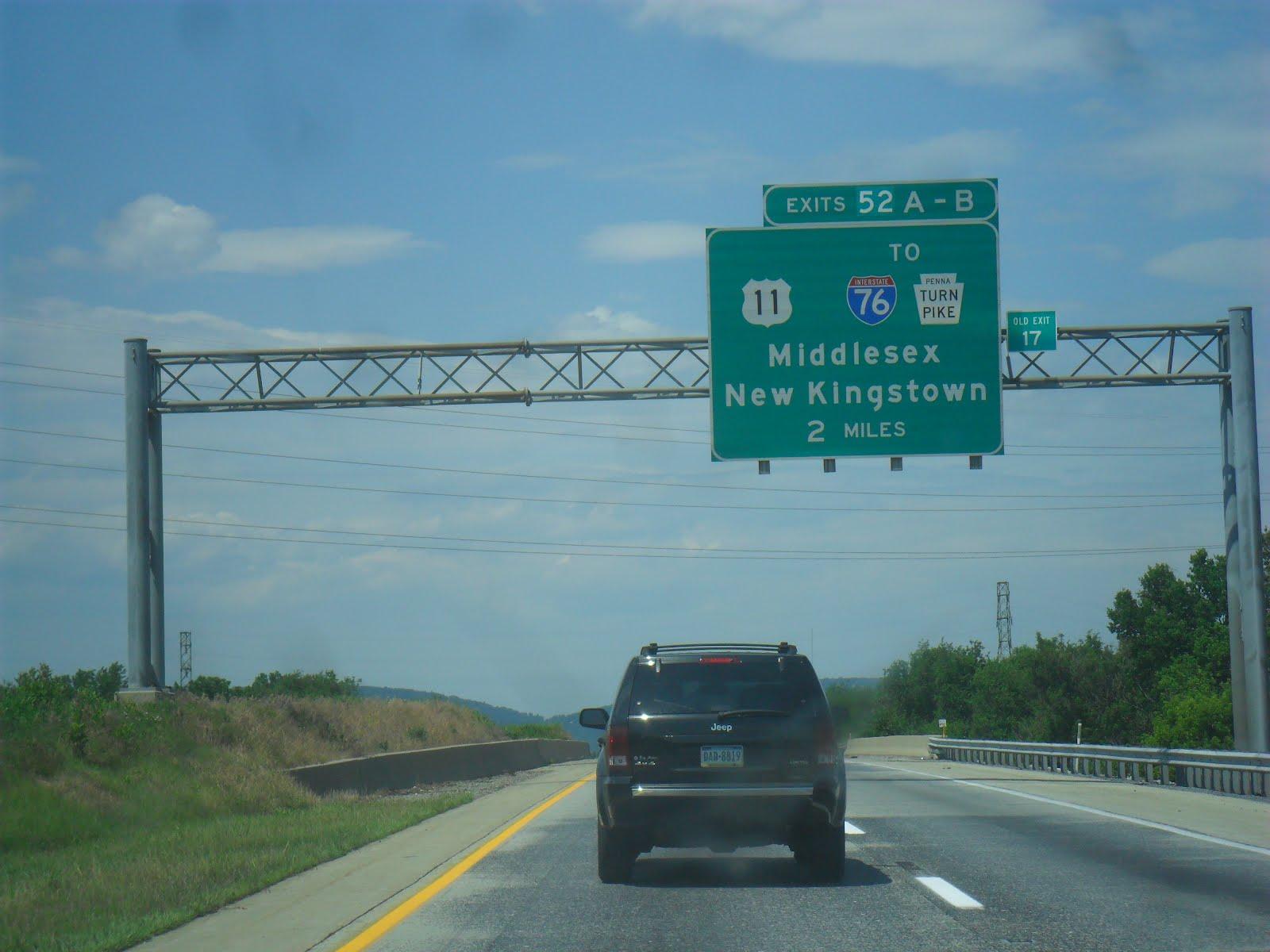 Luke's Signs: Interstate 81 - Pennsylvania (South of Harrisburg)