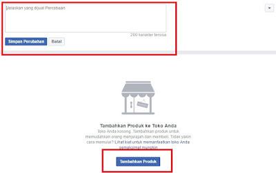 Unggah Gambar dan Harga Produk FB