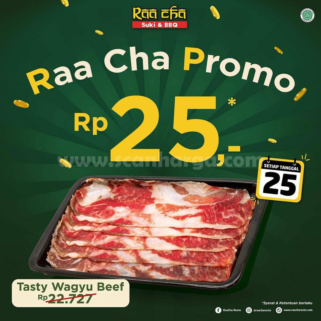 RAA CHA SUKI Promo 25! harga spesial Tasty Wagyu Plate hanya Rp 25,-
