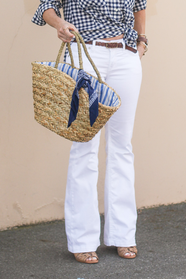 summer style straw bags and totes