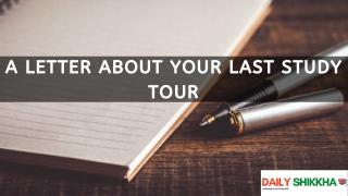 A letter about your last study tour