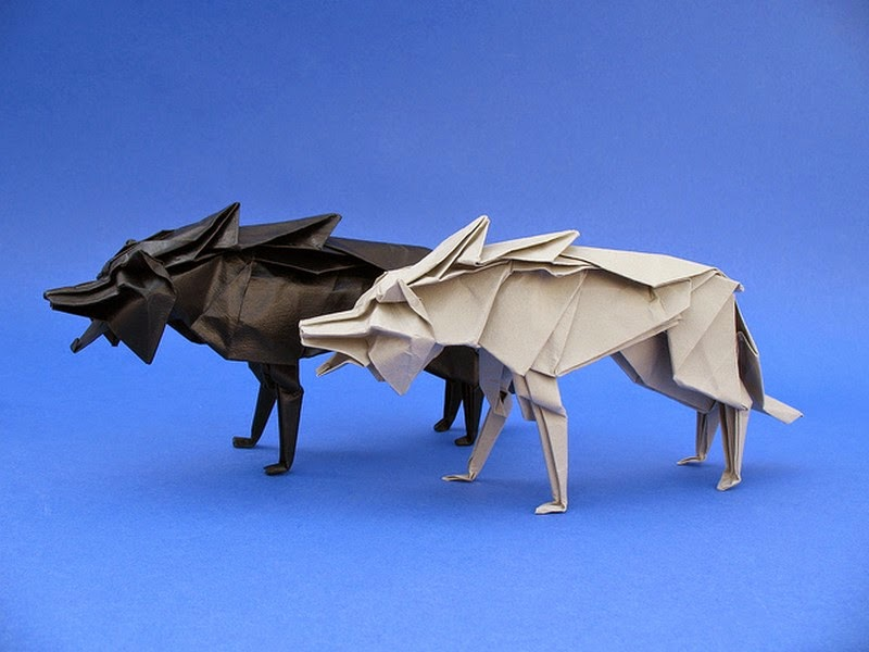 How to Make Easy Origami Wolf - A Step by Step Tutorial - YouTube | 600x800