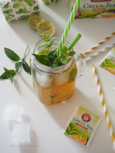 zielona herbata mrożona