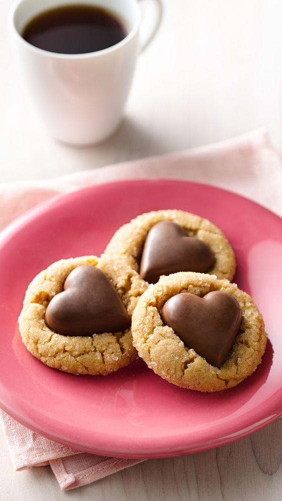 Chocolate Heart Peanut Butter Cookies #DESSERT #VALENTINE'SDAY #COOKIES