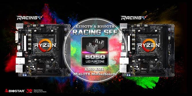 BIOSTAR Mini-ITX Motherboard for AMD RYZEN