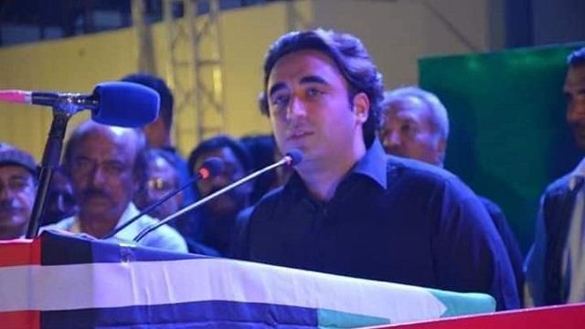 Bilawal Bhutto Zardari addressing public meeting at Naudero