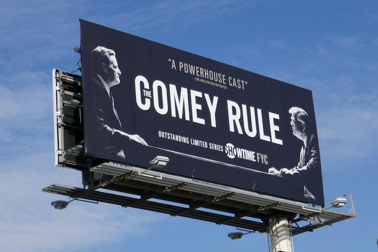 Comey Rule FYC billboard