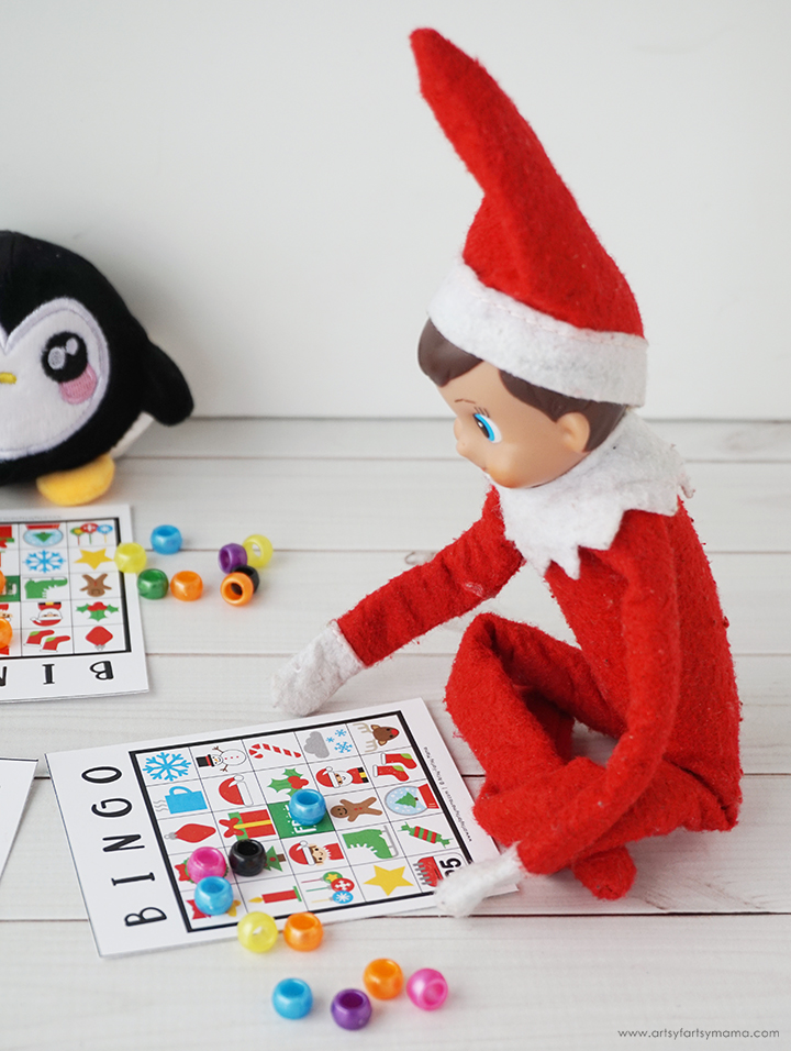 Free Printable Elf on the Shelf Bingo