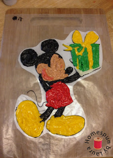 mickey mouse birthday cake frozen buttercream transfer