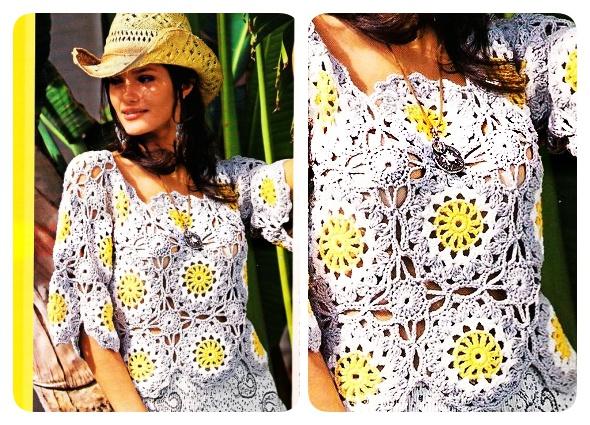 top crochet, crochet motivols circulares, ganchillo redondo, moda femenina