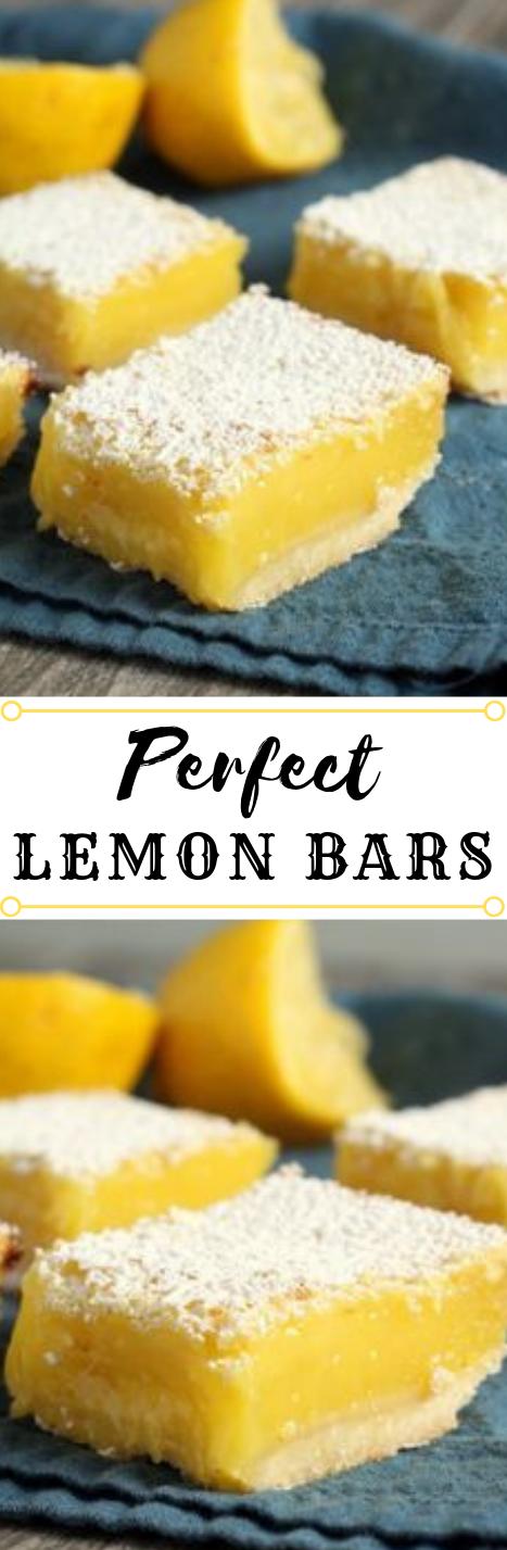 Perfect Lemon Bars #lemon #bars #dessert #cakes #healthyrecipes