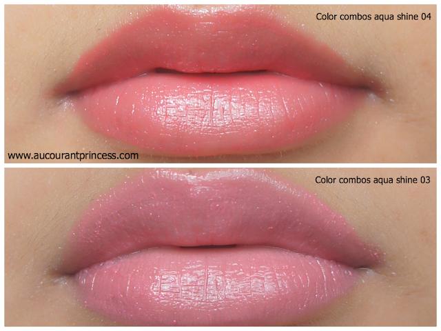Color Combos Aqua Shine Lipstick Product Review