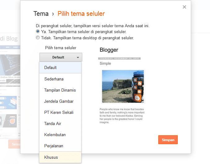 cara membuat template blog versi mobile responsive