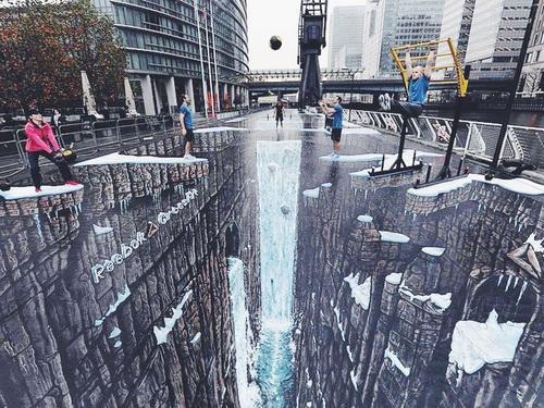 optical-illusion-pavement-rocky-falling