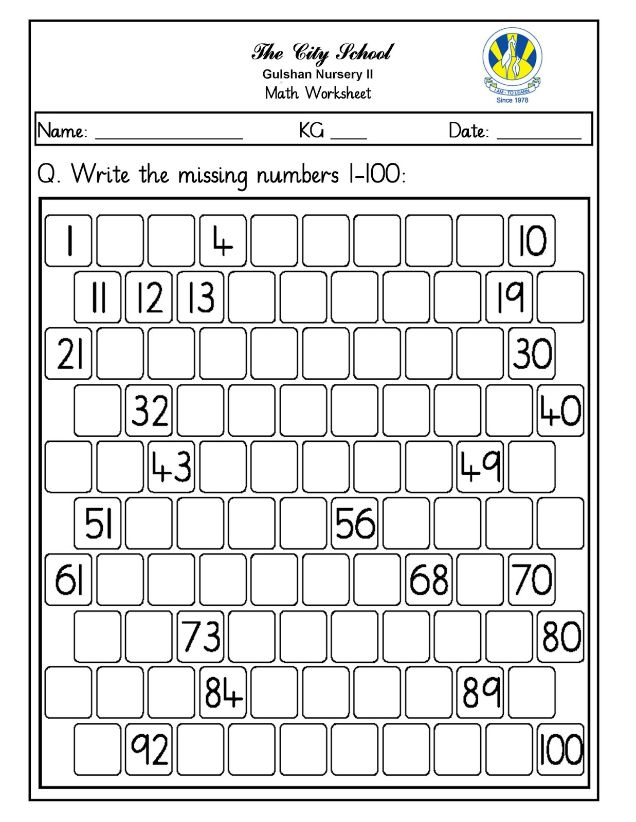 Awesome Kg 2 Maths Worksheets Composition - Math Exercises ...