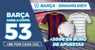 Paston Megacuota Barcelona vs Dynamo Kiev 4-11-2020