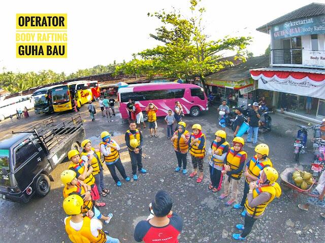 Lokasi Brefing sebelum Start Body Rafting