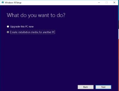 Microsoft Windows 10 Media Creation Tool Download