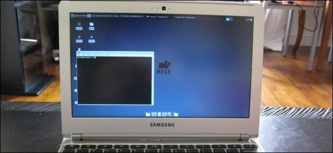 تم تثبيت Linux على جهاز Chromebook