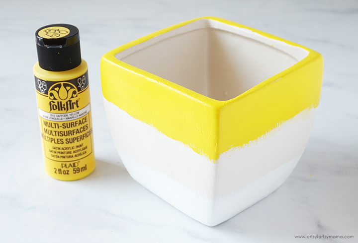 Candy Corn Bowl with Yellow Paint