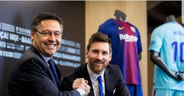 Lionel Messi is free 'to leave' at end of season - Barcelona president, Josep Maria Bartomeu