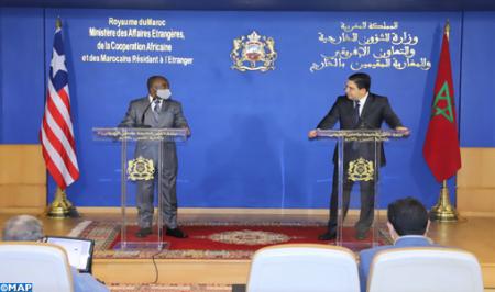 السيد بوريطة ينوه بموقف ليبيريا الإيجابي والبناء حول قضية الصحراء المغربية