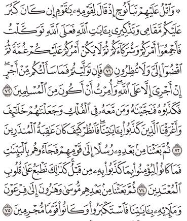 Tafsir Surat Yunus Ayat 71, 72, 73, 74, 75