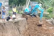 Diduga Tidak Sesuai Perencanaan Penyebab Turap di Desa Teriti Roboh