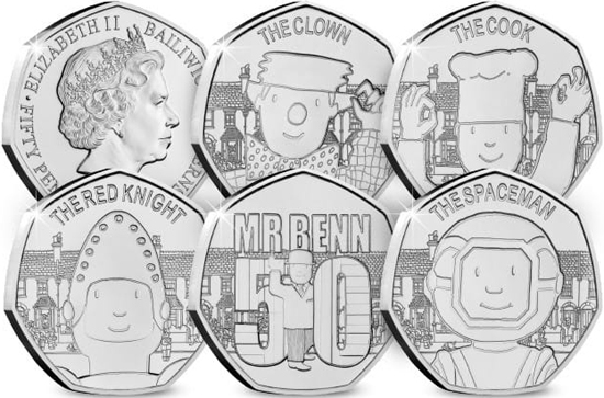 Guernsey 50 pence 2021 - Mr Benn 50th Anniversary