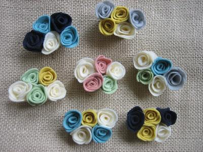 diy felt rosettes